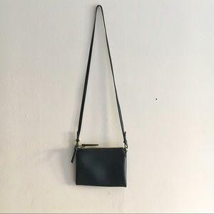 Old Navy Black Vegan Leather Crossbody Bag